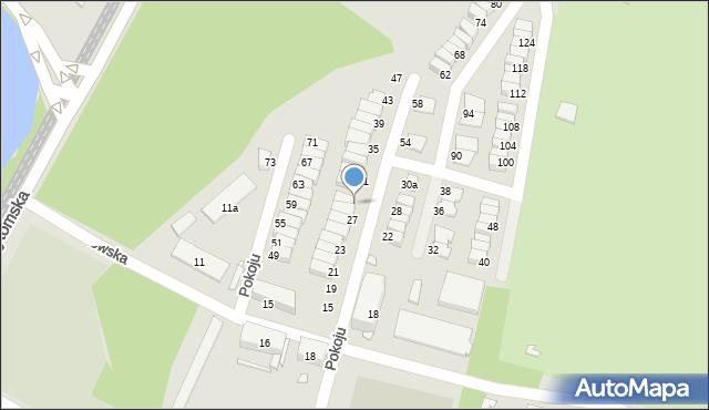 Chorzów, Pokoju, 29, mapa Chorzów