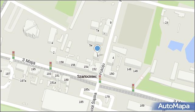 Chorzów, Pokoju, 3, mapa Chorzów