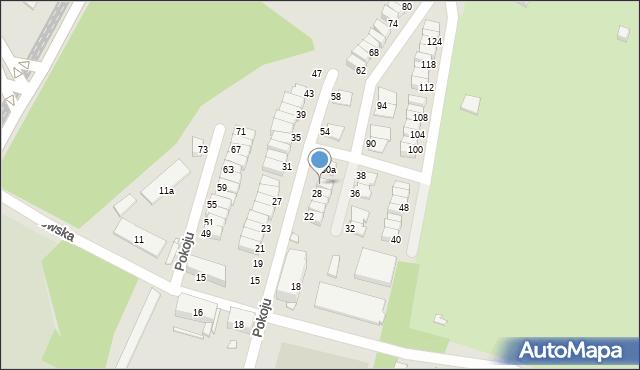 Chorzów, Pokoju, 30, mapa Chorzów