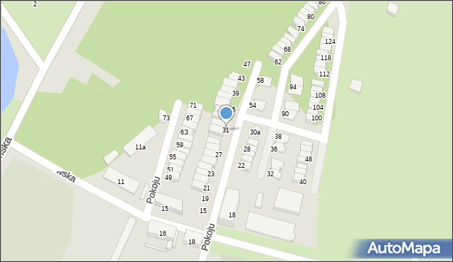 Chorzów, Pokoju, 31, mapa Chorzów