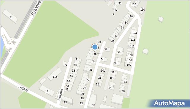 Chorzów, Pokoju, 39, mapa Chorzów