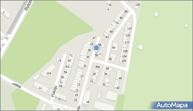 Chorzów, Pokoju, 54, mapa Chorzów
