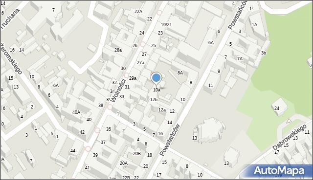 Chorzów, Powstańców, 10a, mapa Chorzów