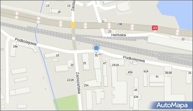 Częstochowa, Podkolejowa, 51, mapa Częstochowy