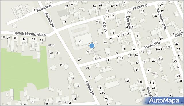 Częstochowa, Podwójna, 3A, mapa Częstochowy