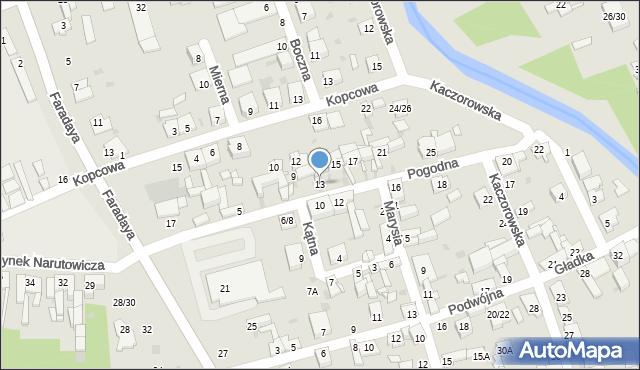 Częstochowa, Pogodna, 13, mapa Częstochowy