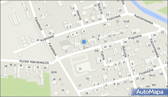 Częstochowa, Pogodna, 5, mapa Częstochowy