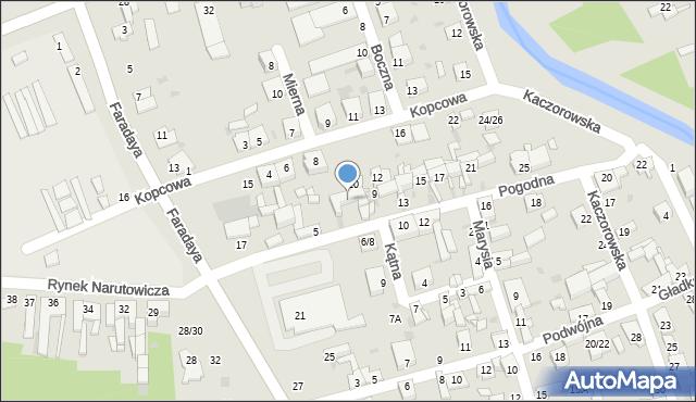Częstochowa, Pogodna, 7, mapa Częstochowy