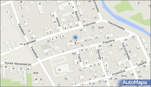 Częstochowa, Pogodna, 9, mapa Częstochowy