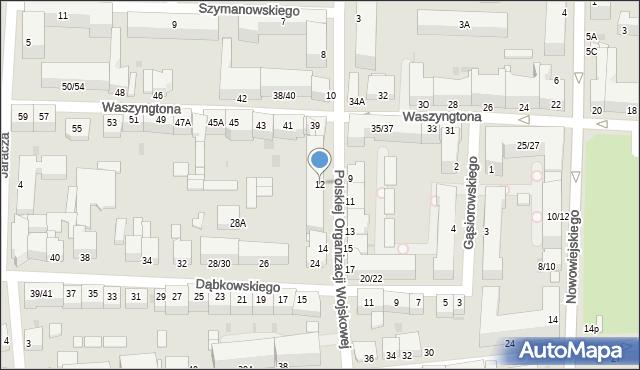 Częstochowa, Polskiej Organizacji Wojskowej, 12, mapa Częstochowy