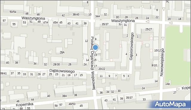 Częstochowa, Polskiej Organizacji Wojskowej, 13, mapa Częstochowy
