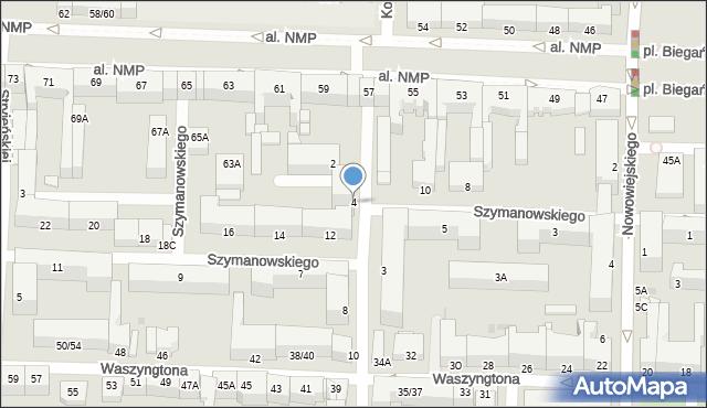 Częstochowa, Polskiej Organizacji Wojskowej, 4, mapa Częstochowy