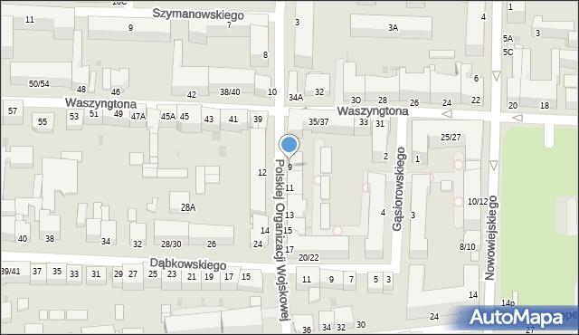 Częstochowa, Polskiej Organizacji Wojskowej, 9, mapa Częstochowy