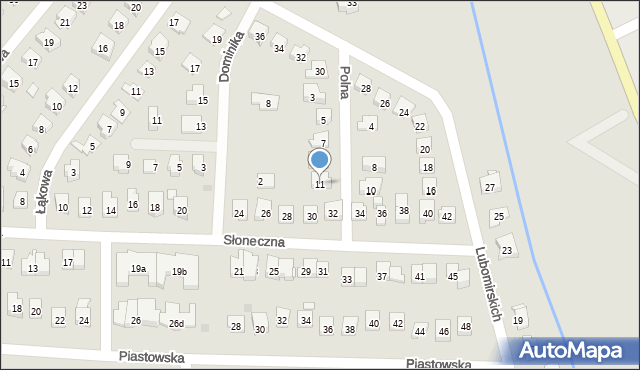 Dobczyce, Polna, 11, mapa Dobczyce