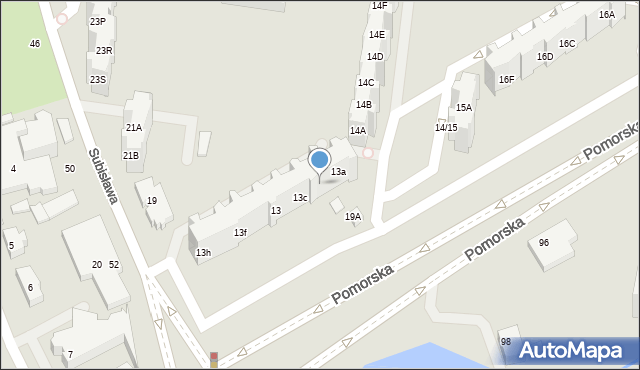 Gdańsk, Pomorska, 13b, mapa Gdańska