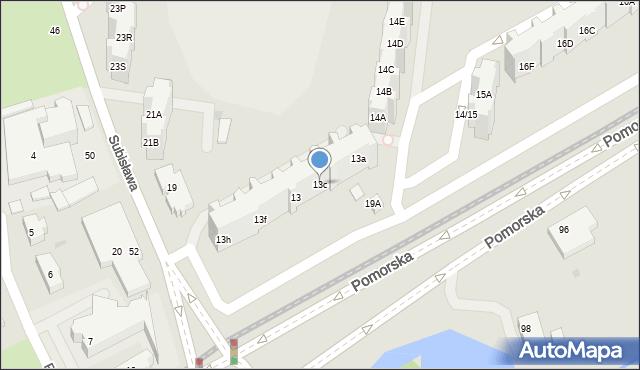 Gdańsk, Pomorska, 13c, mapa Gdańska