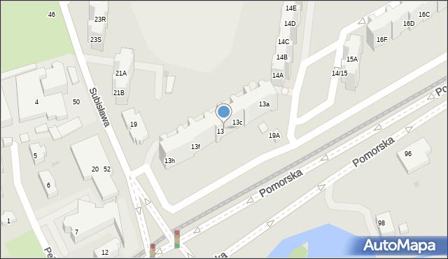 Gdańsk, Pomorska, 13d, mapa Gdańska