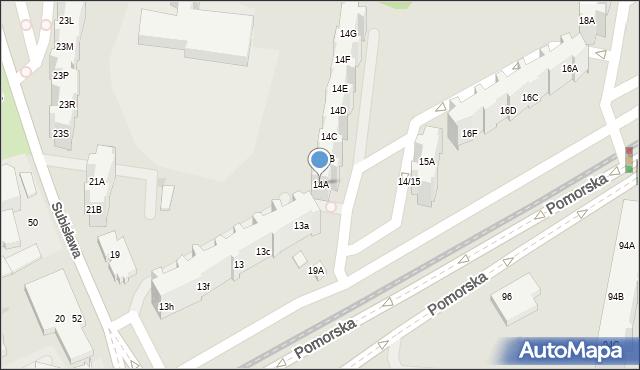 Gdańsk, Pomorska, 14A, mapa Gdańska