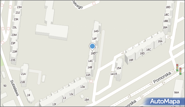 Gdańsk, Pomorska, 14D, mapa Gdańska