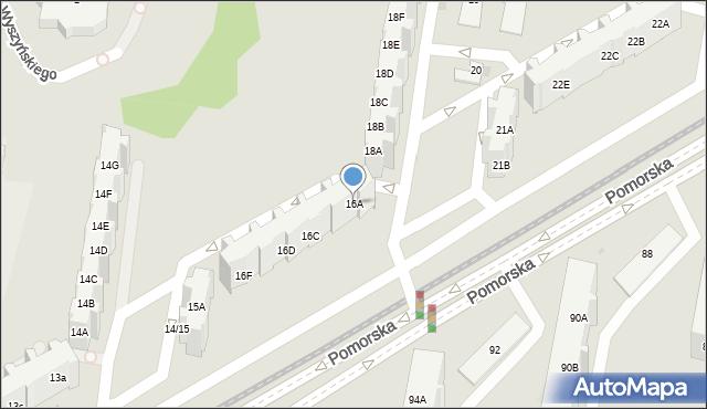 Gdańsk, Pomorska, 16A, mapa Gdańska
