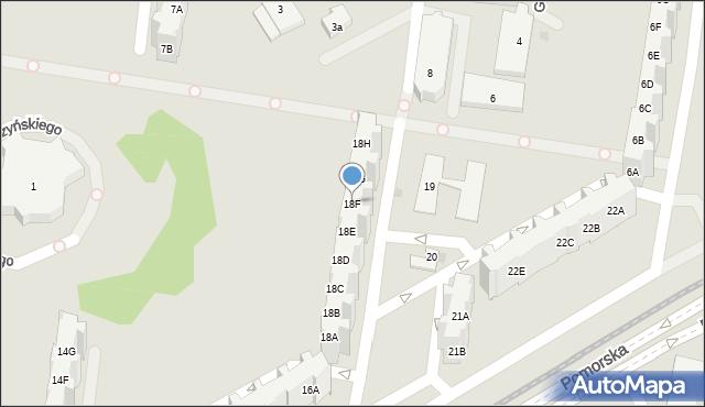 Gdańsk, Pomorska, 18F, mapa Gdańska
