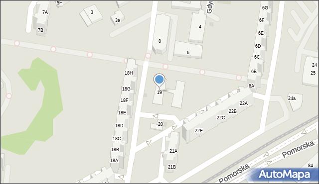 Gdańsk, Pomorska, 19, mapa Gdańska
