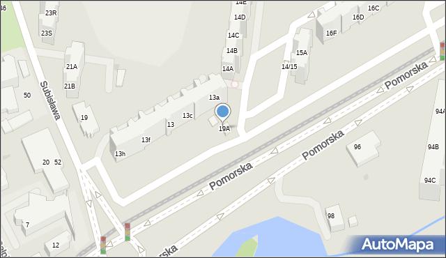 Gdańsk, Pomorska, 19A, mapa Gdańska