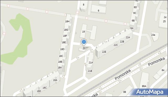 Gdańsk, Pomorska, 20, mapa Gdańska