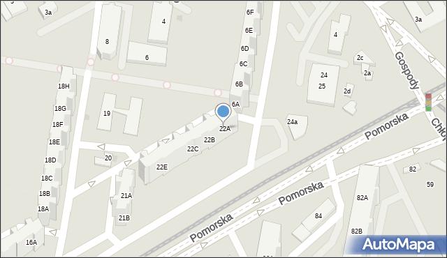 Gdańsk, Pomorska, 22A, mapa Gdańska
