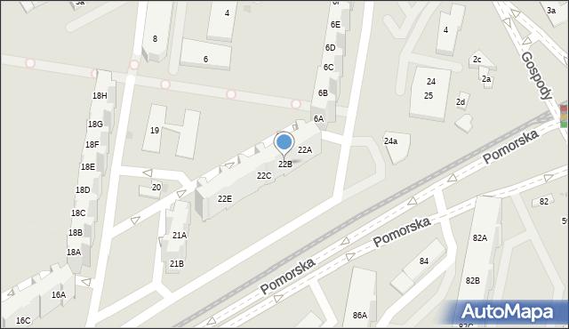 Gdańsk, Pomorska, 22B, mapa Gdańska