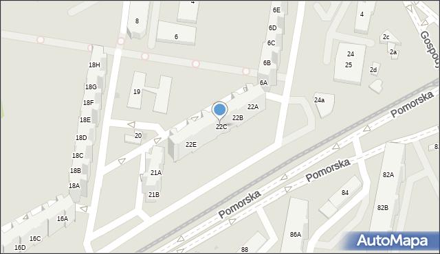 Gdańsk, Pomorska, 22C, mapa Gdańska