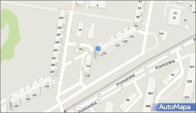 Gdańsk, Pomorska, 22F, mapa Gdańska