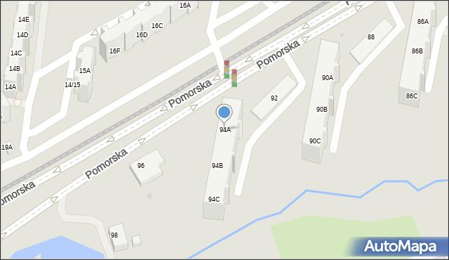 Gdańsk, Pomorska, 94A, mapa Gdańska