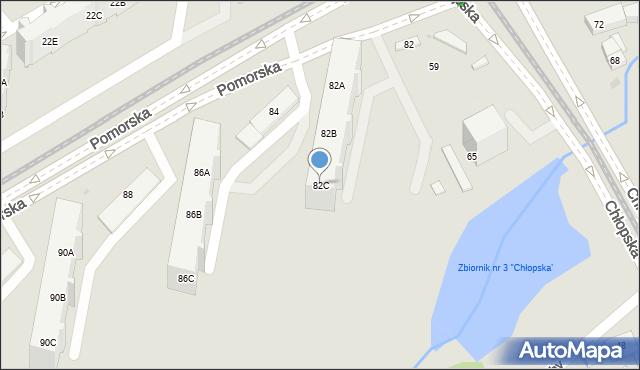 Gdańsk, Pomorska, 82C, mapa Gdańska