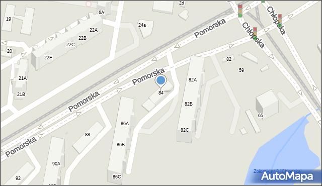 Gdańsk, Pomorska, 84, mapa Gdańska