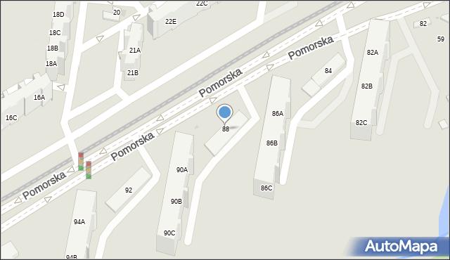 Gdańsk, Pomorska, 88, mapa Gdańska