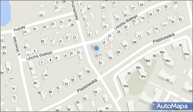 Gdańsk, Poznańska, 13, mapa Gdańska