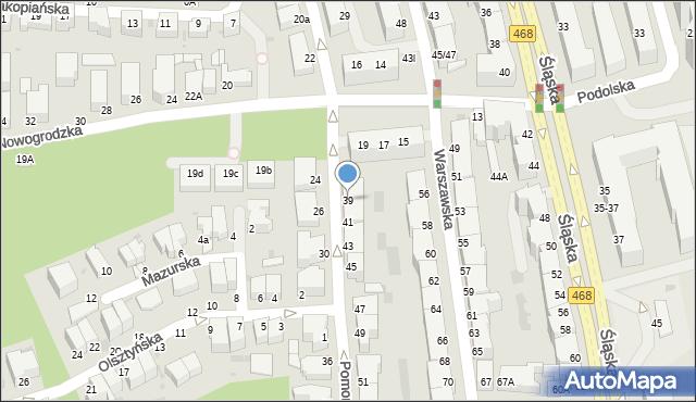 Gdynia, Pomorska, 39, mapa Gdyni