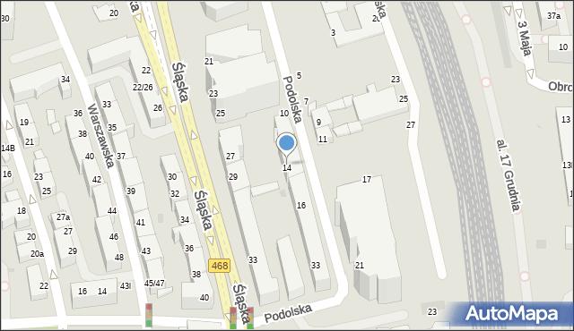 Gdynia, Podolska, 14, mapa Gdyni
