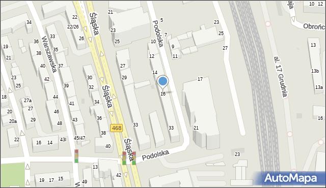 Gdynia, Podolska, 16, mapa Gdyni