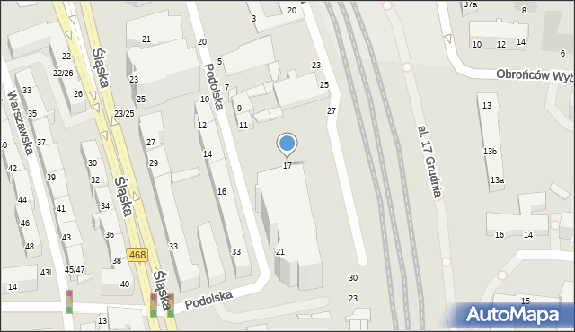 Gdynia, Podolska, 17, mapa Gdyni
