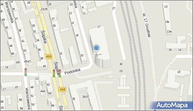 Gdynia, Podolska, 21, mapa Gdyni