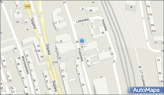 Gdynia, Podolska, 5, mapa Gdyni