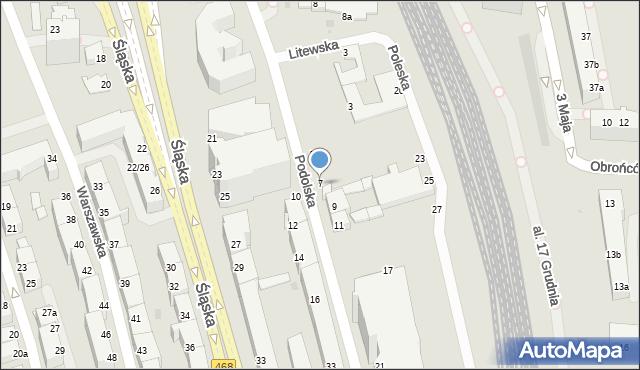 Gdynia, Podolska, 7, mapa Gdyni
