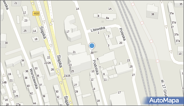 Gdynia, Poleska, 20, mapa Gdyni