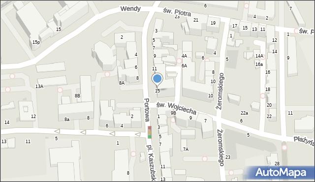 Gdynia, Portowa, 18A, mapa Gdyni