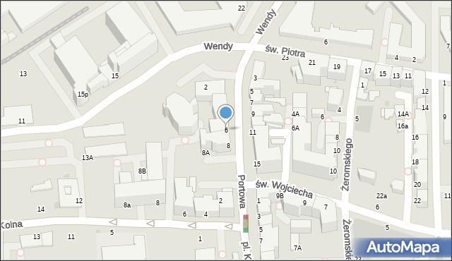 Gdynia, Portowa, 6, mapa Gdyni