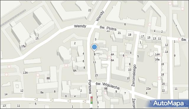 Gdynia, Portowa, 9, mapa Gdyni