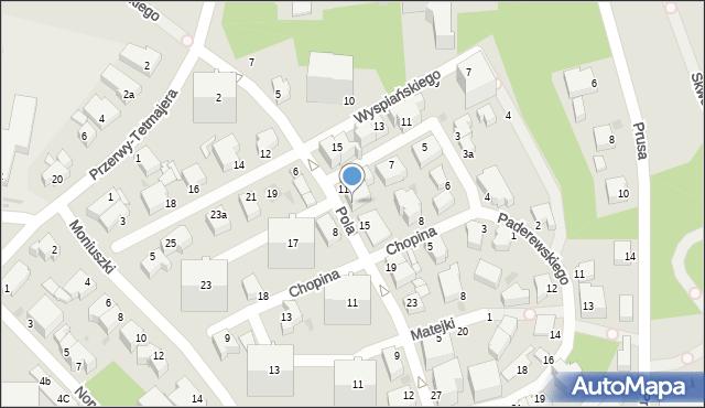 Gdynia, Pola Wincentego, 13, mapa Gdyni