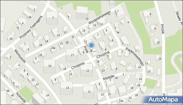 Gdynia, Pola Wincentego, 15-17, mapa Gdyni